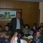 Посета на првачиња кај градоначалникот - септември, 2013