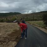 Спој на пат Петралица - септември, 2013